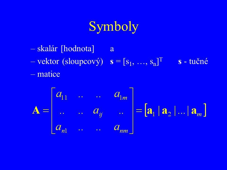 Symboly skalár [hodnota] a
